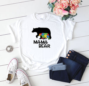 Mama Bear Autism Awareness T-Shirt - Quote My Gift