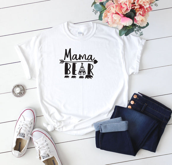 Mama Bear T-Shirt Print - Quote My Gift