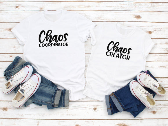 Chaos Coordinator Funny Maching T-Shirts - Quote My Gift