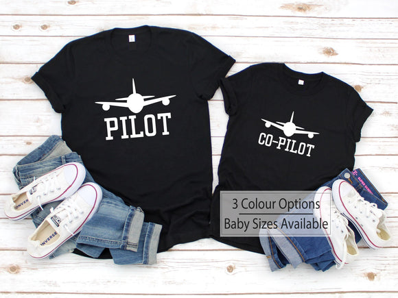 Pilot & Co Pilot Father Son Shirts - Quote My Gift