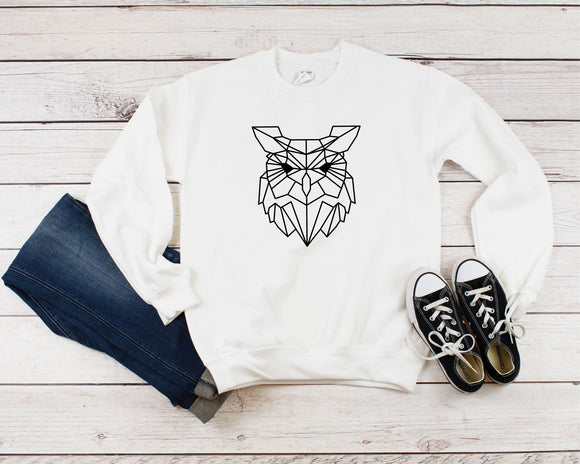 Geometric Owl Sweater - Quote My Gift