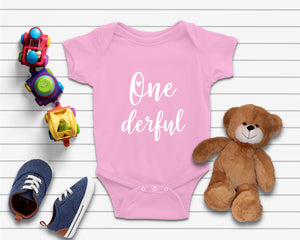 One Derful 1st Birthday Baby Onesie - Quote My Gift