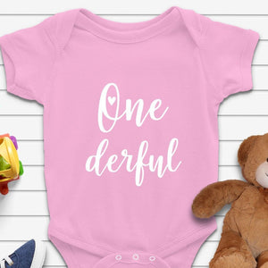 One Derful Birthday Baby Onesie - Quote My Gift