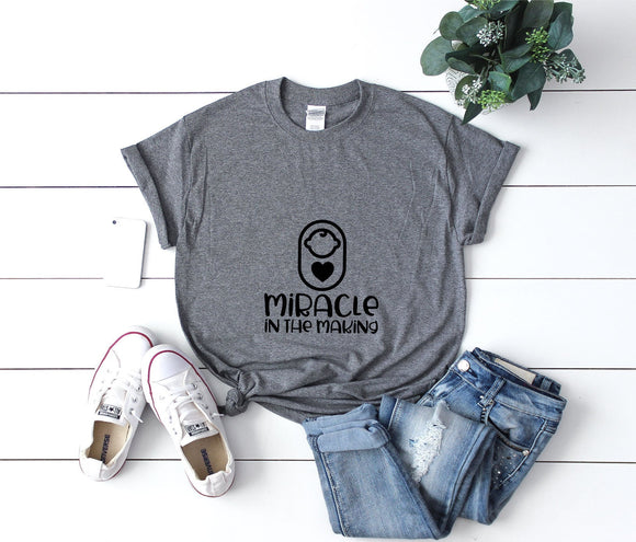 Miracle In The Making Maternity T-Shirt - Quote My Gift