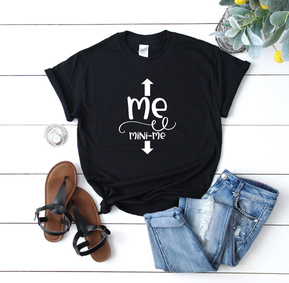 Me Mini Me Funny Maternity Shirt - Quote My Gift