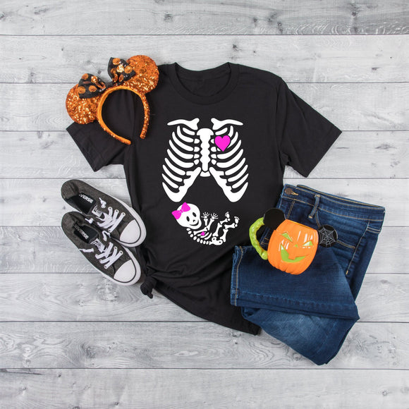 Funny Baby Girl Maternity Halloween T-Shirt - Quote My Gift