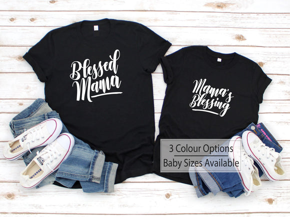 Blessed Mum And Daughter Matching Shirts - Quote My Gift