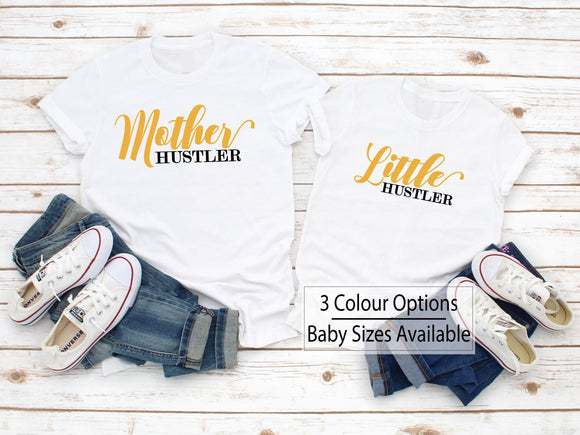 Mother And Little Hustler Funny Matching Shirts - Quote My Gift