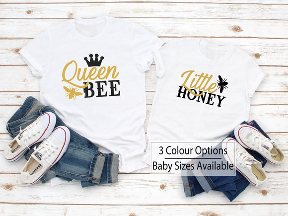 Queen Bee Daughter Matching Shirts - Quote My Gift