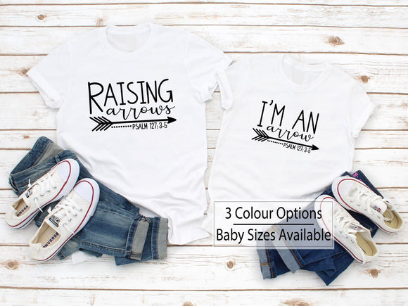 Raising Arrows Matching Family Shirts - Quote My Gift