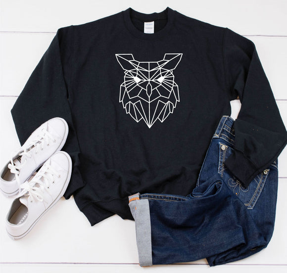 Geometric Owl Sweatshirt - Quote My Gift