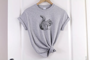 Squirrel Artwork T-Shirt - Quote My Gift