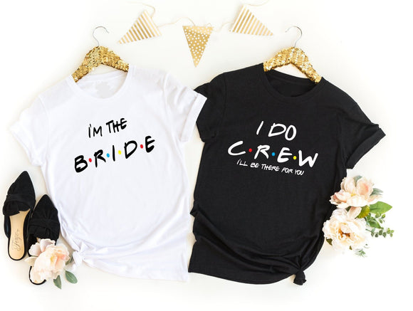Friends Rose Gold Hen Do Shirts - Quote My Gift