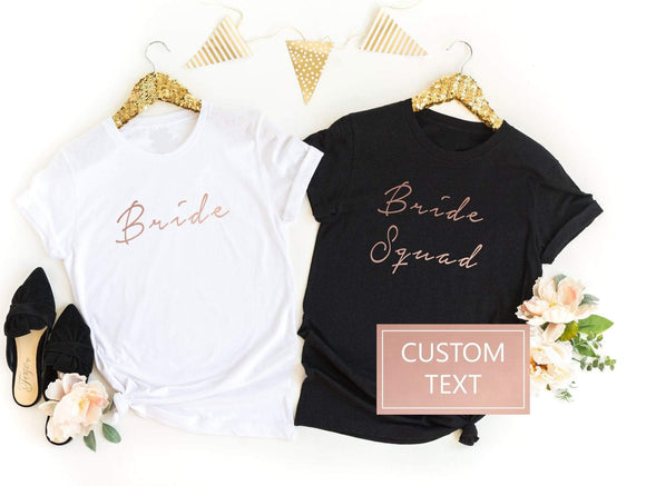 Custom Wedding Role hen Do Shirts - Quote My Gift