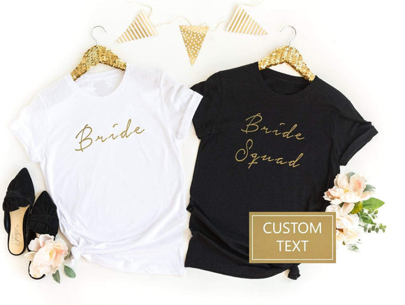 Bride Squad Custom Hen Do Shirts - Quote My Gift