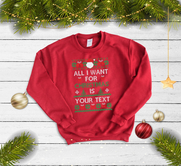 Make Your Own Christmas Sweater - Quote My Gift