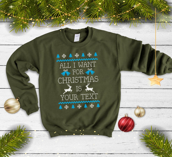 Personalised Christmas Jumper - Quote My Gift
