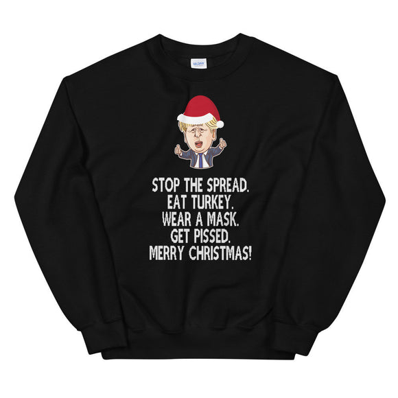 Boris Johnson Christmas Jumper Stop The Spread