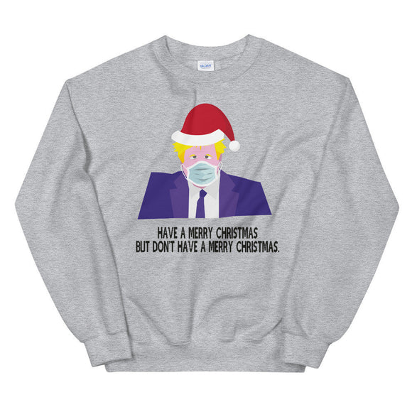 Boris Johnson Christmas Jumper Have a Merry Christmas