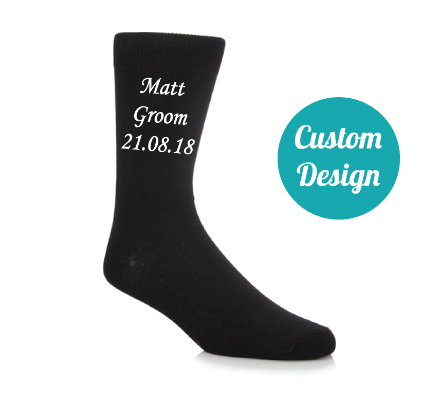 Customised Wedding Socks - Quote My Gift