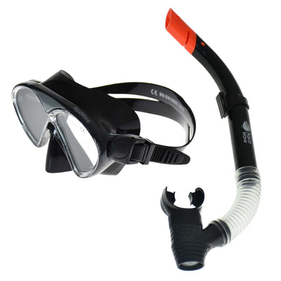 snorkelsaet sort dolphin junior aquawave