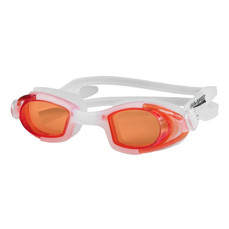Image of   Svømmebrille, Marea Junior - hvid, orange (Aqua-Speed)