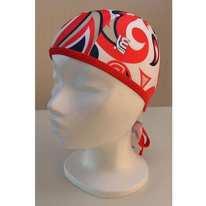 Bandana badehætte, arabesque/red (Essenuoto)