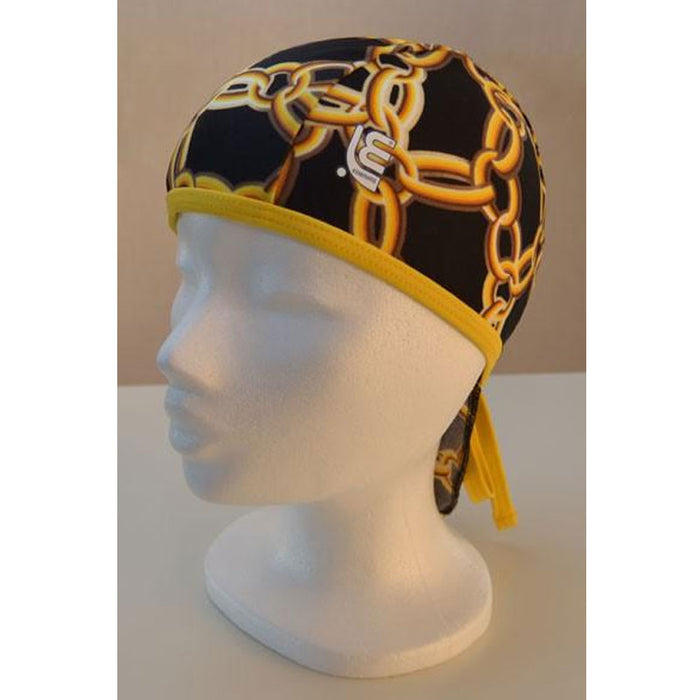 Bandana badehætte, chain/yellow (Essenuoto)