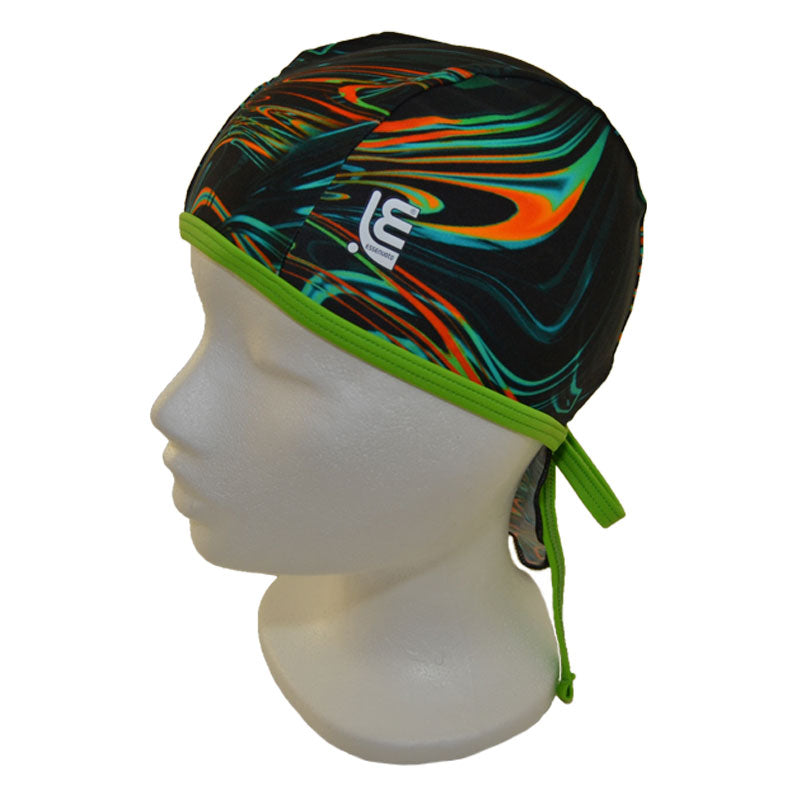 Image of   Bandana badehætte, marble/green fluo (Essenuoto)