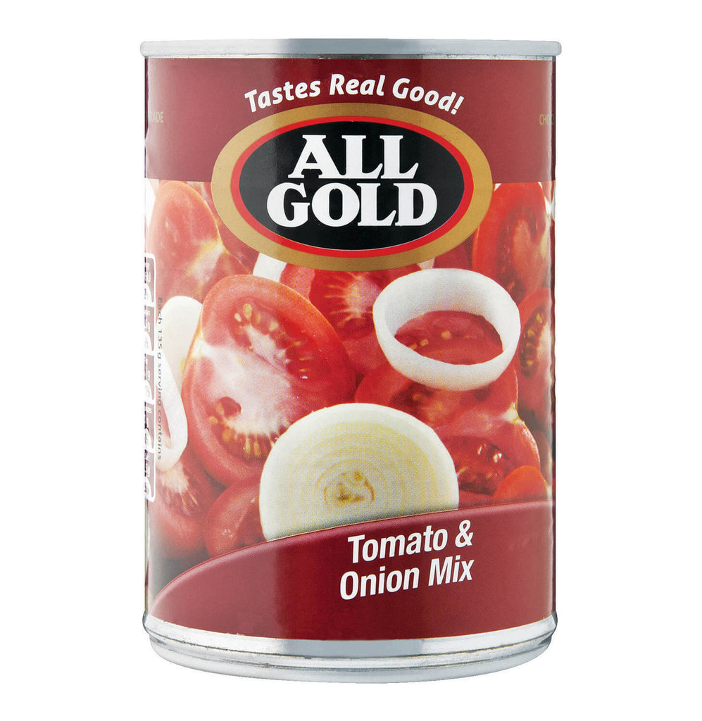 All Gold Tomatoes - Tomato and Onion Mix (Kosher) 410g