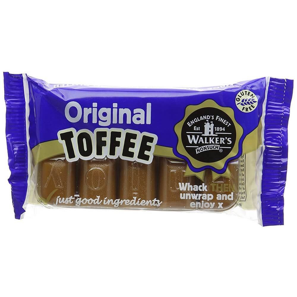 Walkers Toffee - Original Toffee Bar 100g