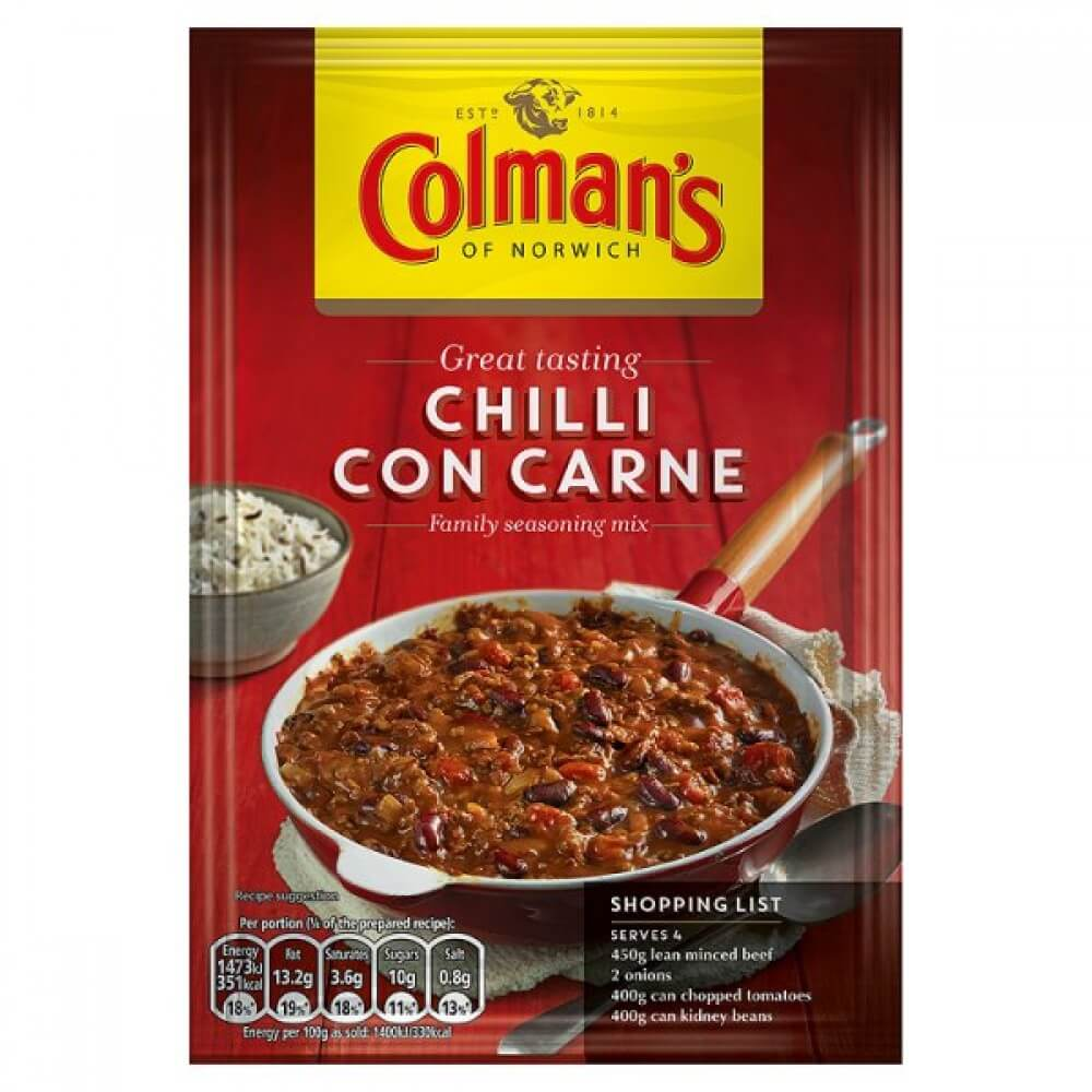 Colmans Seasoning Mix - Chilli Con Carne 50g