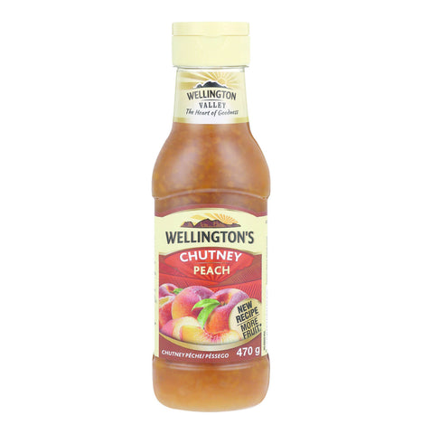 Wellingtons Peach Chutney Squeezy Bottle (Kosher) 470ml