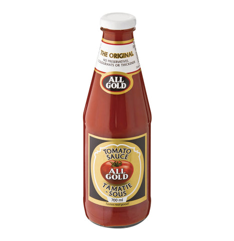 All Gold Tomato Sauce - Large Glass Bottle (Kosher) 700ml