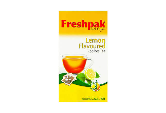Freshpak Rooibos Tea - Lemon Flavor Teabags (Pack of 20 Bags) 50g