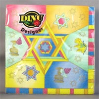 DINU Napkins - Magen David Multi Colored (Pack of 20) 111g - African Hut