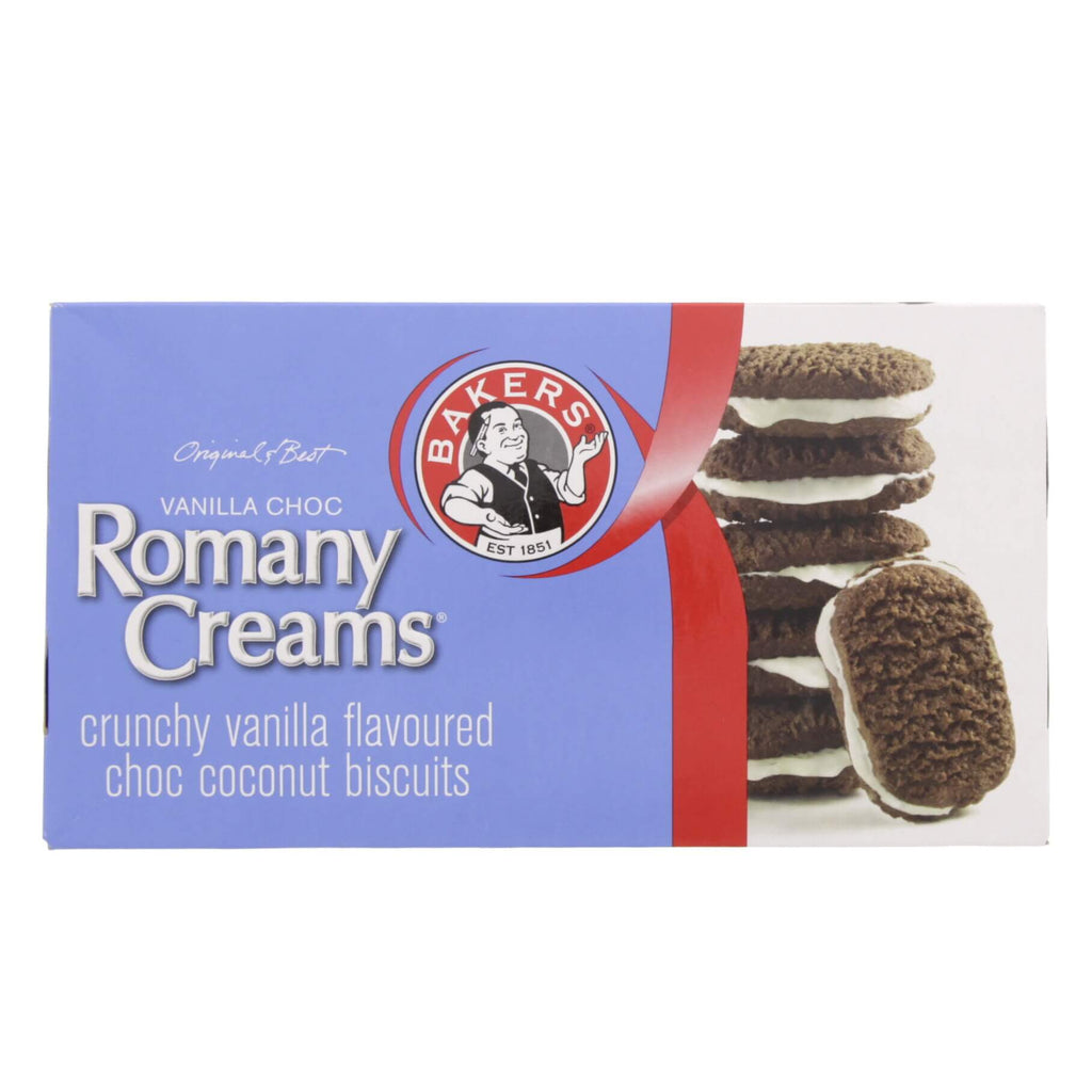 Bakers Vanilla Choc Romany Creams Biscuits (Kosher) 200g