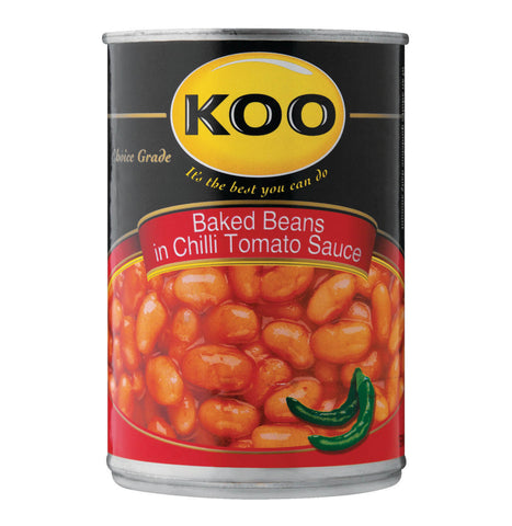 Koo Baked Beans - with Chilli Sauce 420g