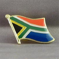 African Hut South African Flag Pin Badge 10g