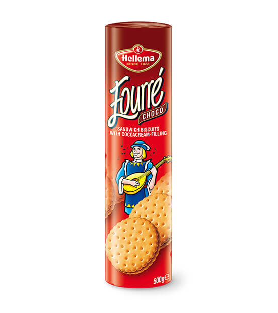 Hellema Fourre Chocolate Sandwich Biscuits 500g
