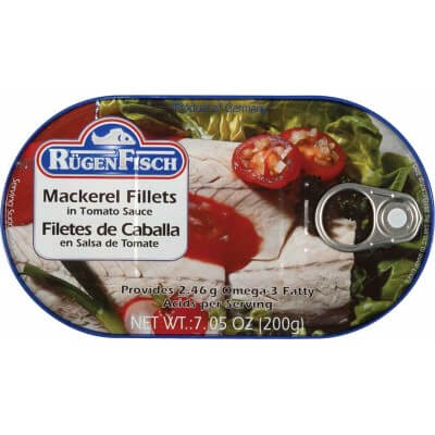 Ruegenfisch Mackerel Fillets In Tomato Sauce 200g