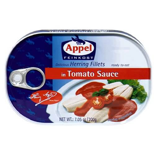 Appel Herring Fillets in Tomato Creme Sauce 200g