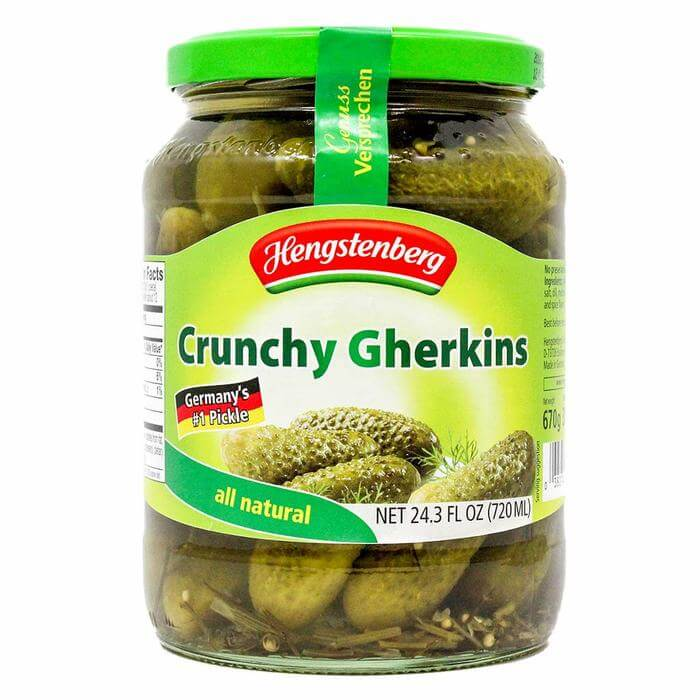 Hengstenberg Crunchy Gherkins Savory and Mildly Spiced 720ml