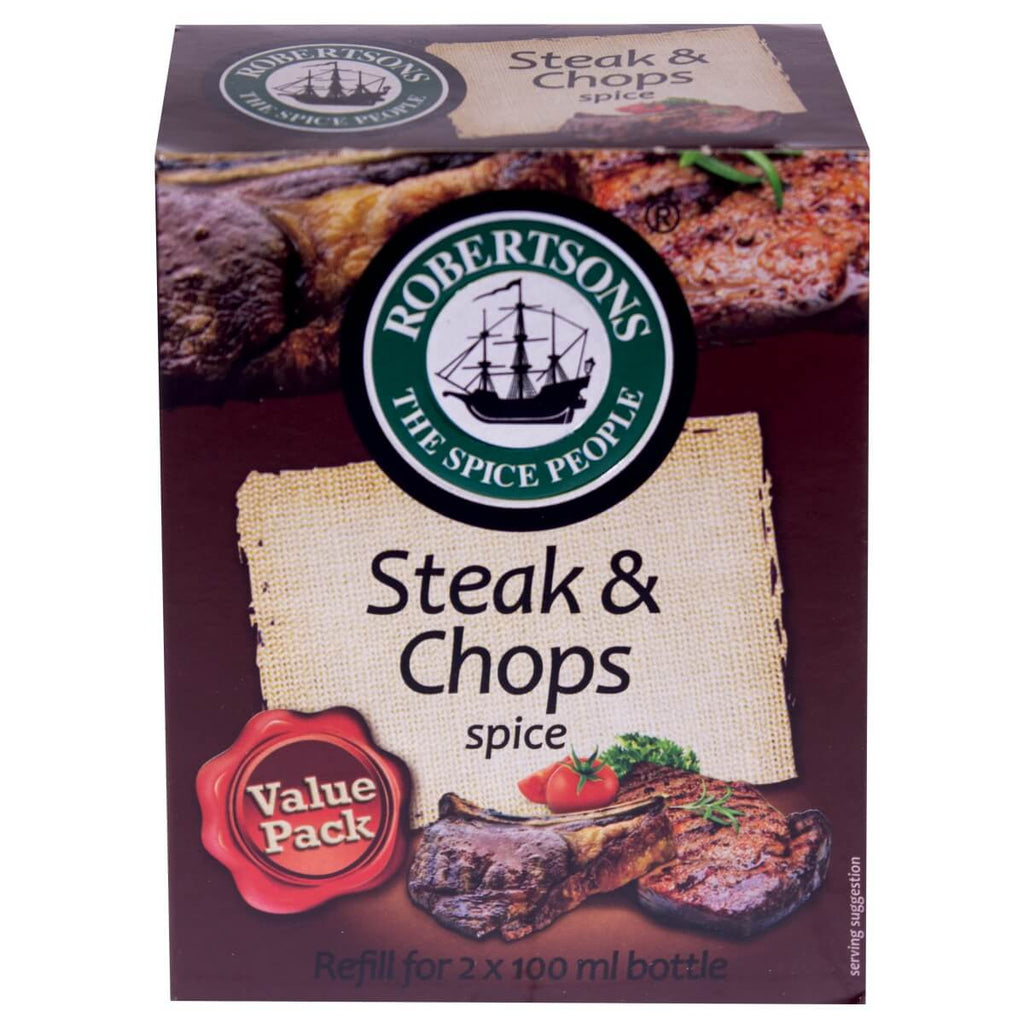 Robertsons Spice - Steak and Chops Refill box 160g - African Hut