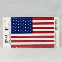 "International Brands Decal United States of America Flag 5"" x 3.25"" 10g - African Hut"