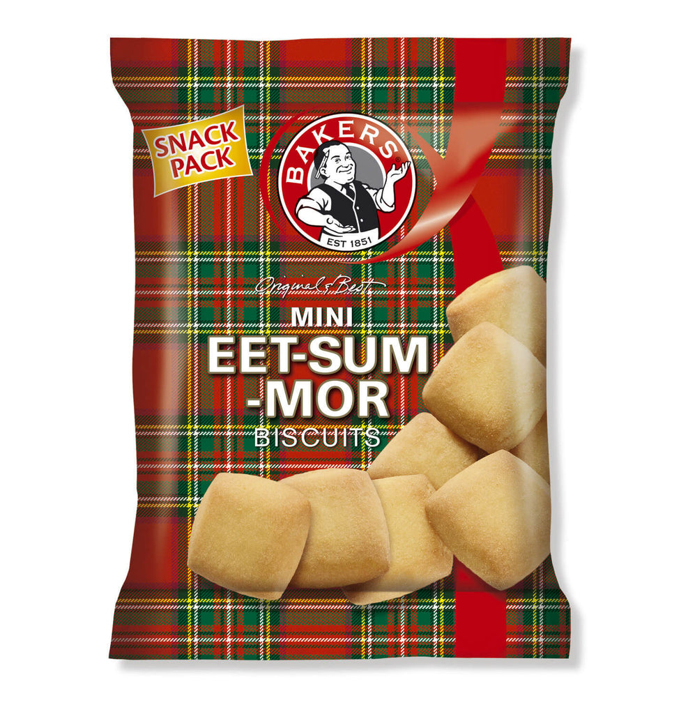 Bakers Eet Sum Mor - Mini Shortbread Biscuits Bag 40g