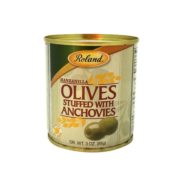 Roland Manzanilla Olives Stuffed with Anchovies 85g