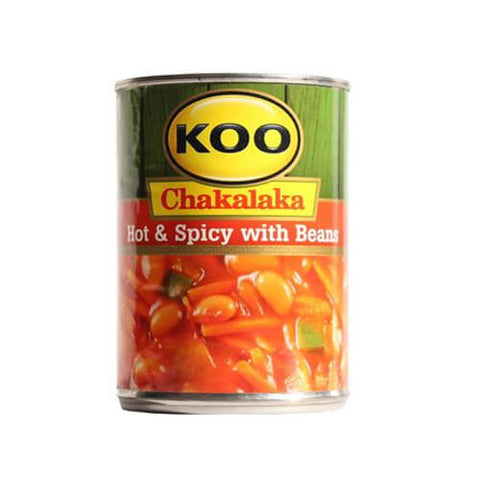 Koo Beans with Chakalakah Hot and Spicy (Kosher) 410g - African Hut