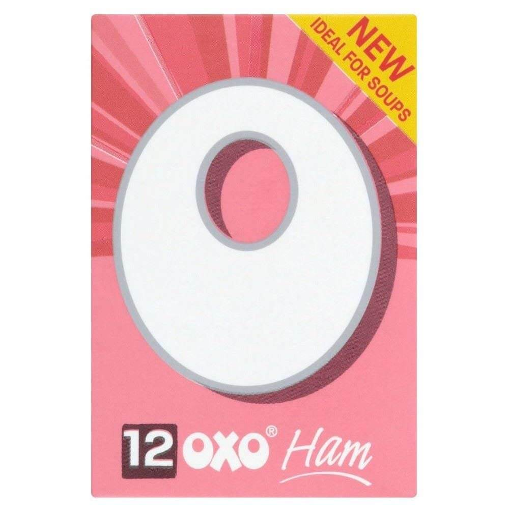 Oxo Stock Cubes - Ham (Pack of 12 Cubes) 71g - African Hut
