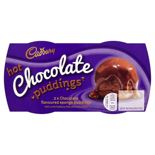 Cadbury Pudding - Milk Chocolate Sticky Puds (Pack of 2) 190g